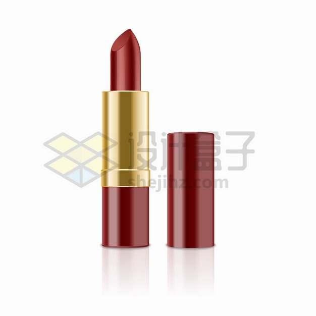 红色包装的口红化妆品美妆用品png图片素材