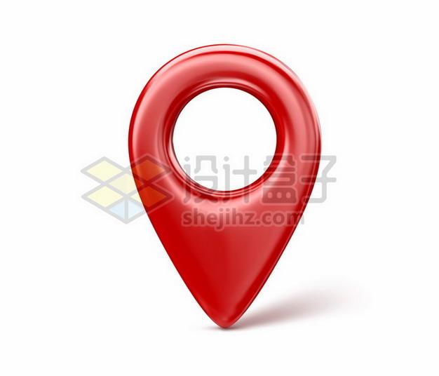 3D立体红色定位标志图标376747png矢量图片素材 标志LOGO-第1张