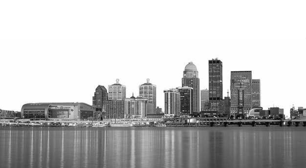 黑白照片风格城市天际线高楼大厦592520png图片素材