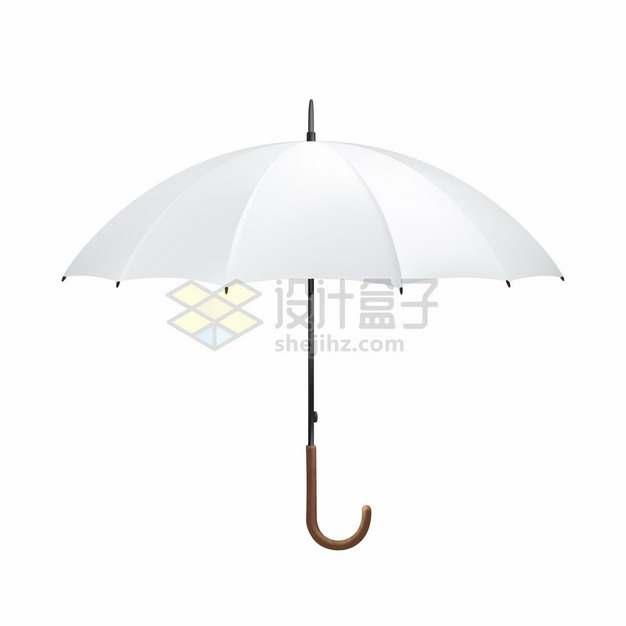 撑开的白色雨伞太阳伞png图片素材