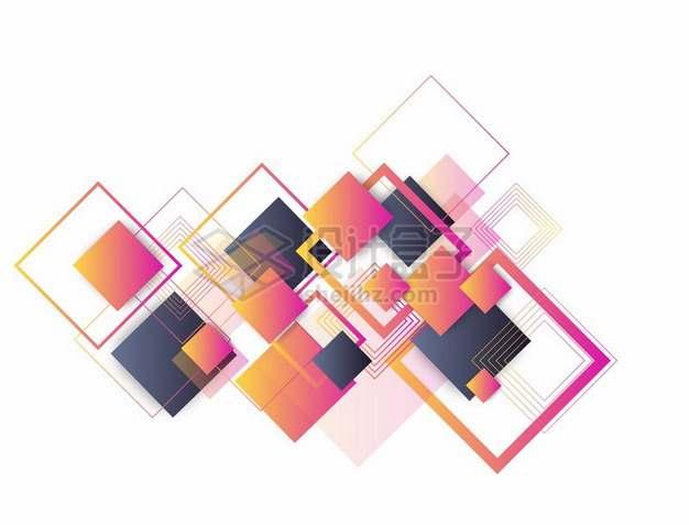 各种彩色方块方框边框装饰135839png图片素材