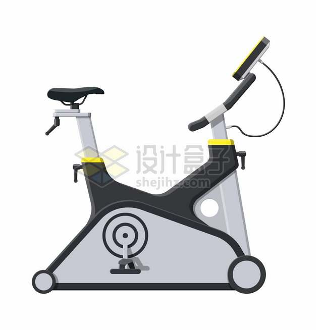 动感单车健身器材侧面图729338png图片素材