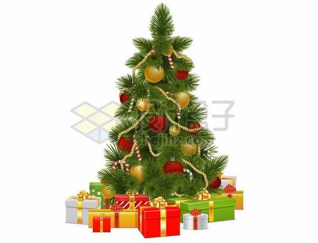 挂满圣诞礼物的圣诞树485006png矢量图片素材
