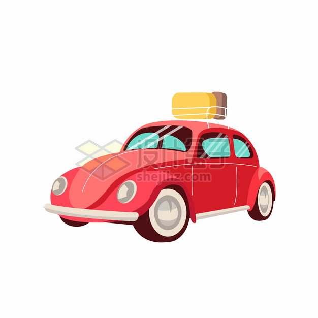 红色卡通汽车旅行车798921png图片素材