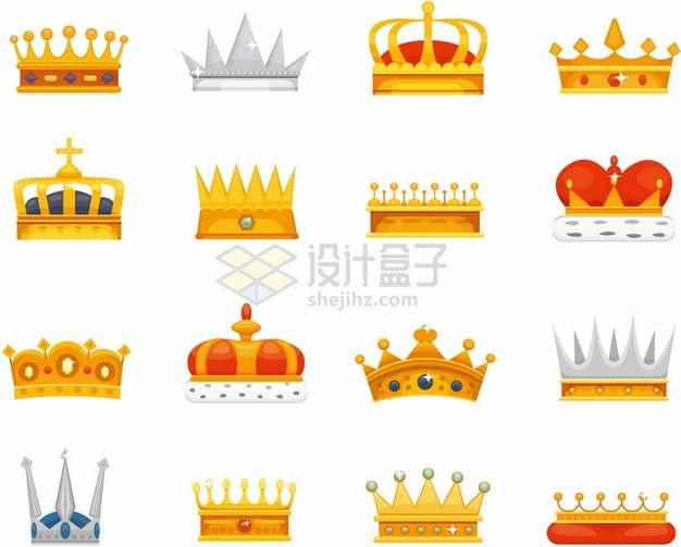 16款卡通皇冠王冠737910png图片素材