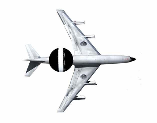 一架银色预警机空军飞机346475png图片素材