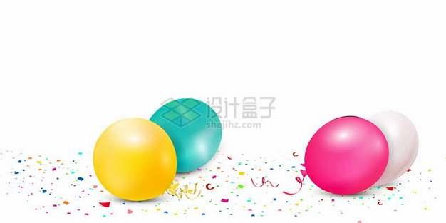 满地的彩色碎纸屑和气球943057png图片素材
