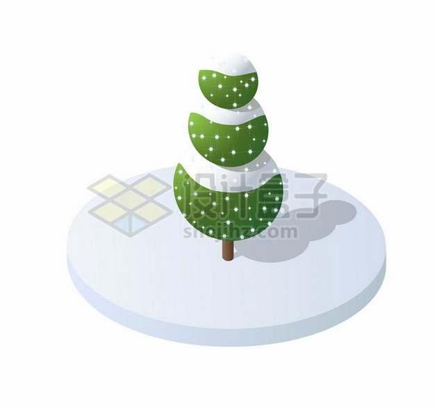 3D立体雪松大树930794png图片素材