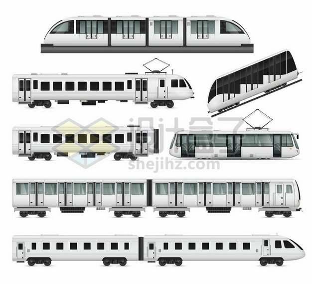 各种地铁列车侧视图555953png图片素材