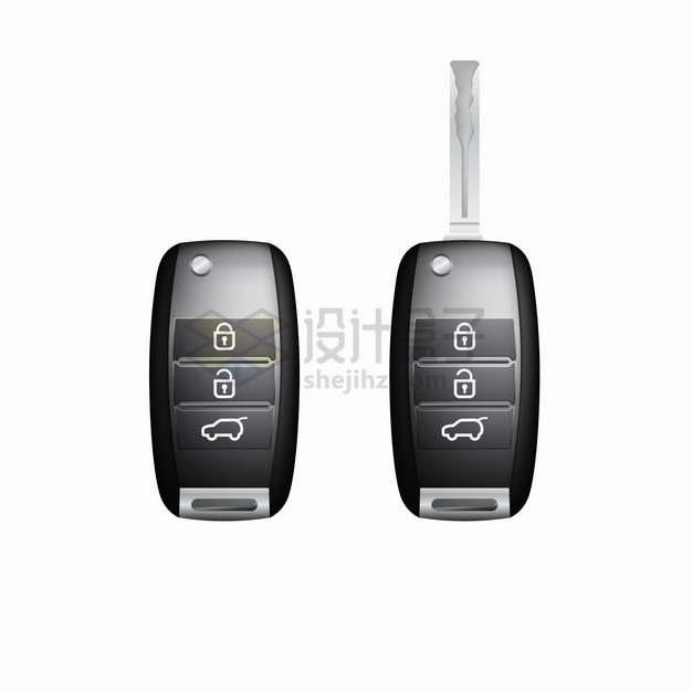 两款逼真的汽车钥匙汽车配件png图片素材