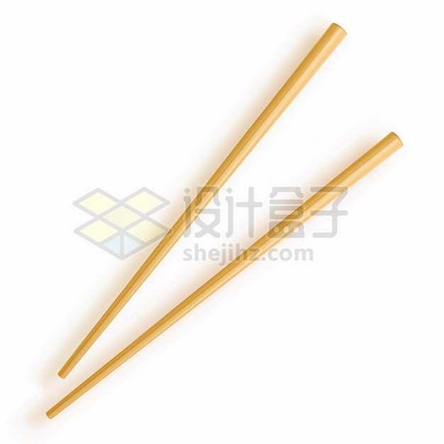 逼真的竹筷子285627png图片素材