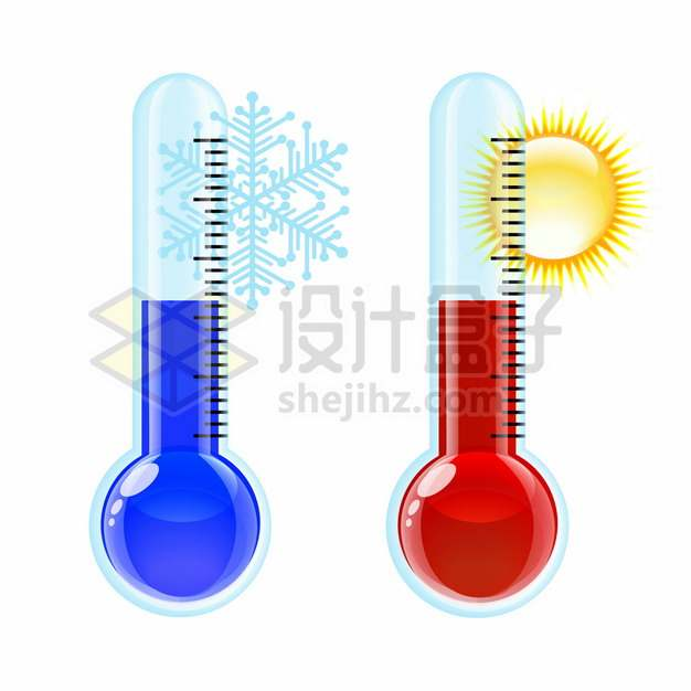 卡通高温和低温温度计614923png图片素材