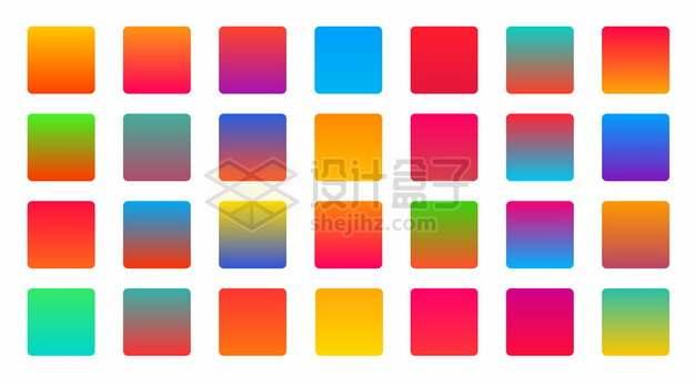 各种彩色渐变色方块761883png图片素材