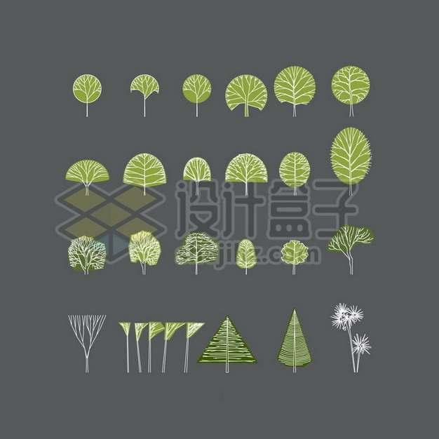 手绘风格卡通大树600617png图片素材