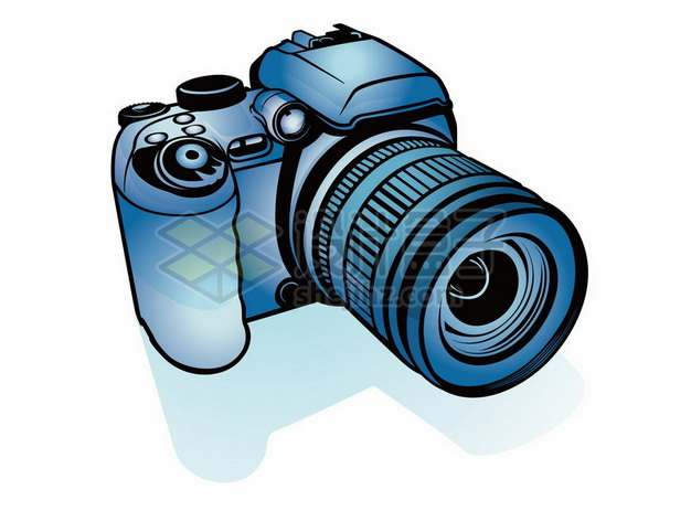蓝色手绘线条数码照相机136943png矢量图片素材