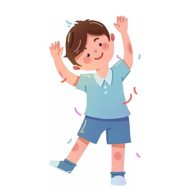 高兴的卡通小男孩499933png图片素材