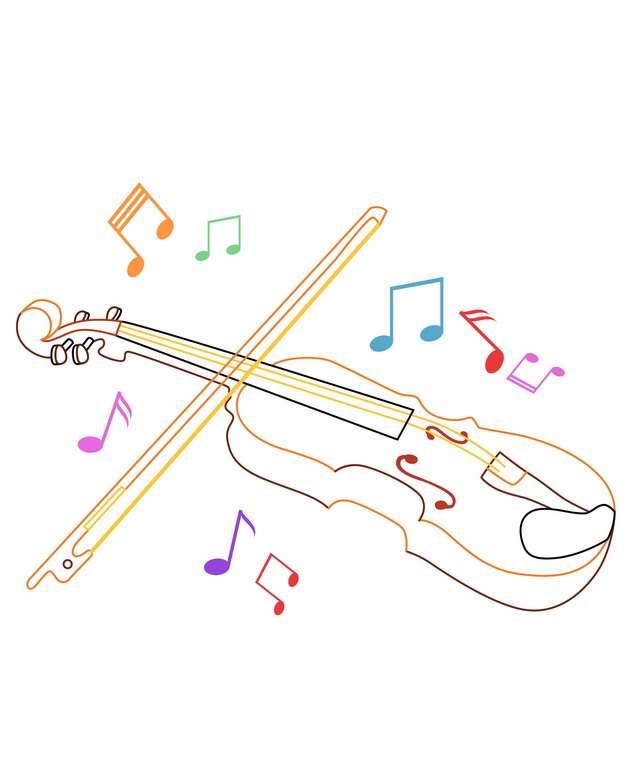 线条大提琴音乐符号933406png图片素材