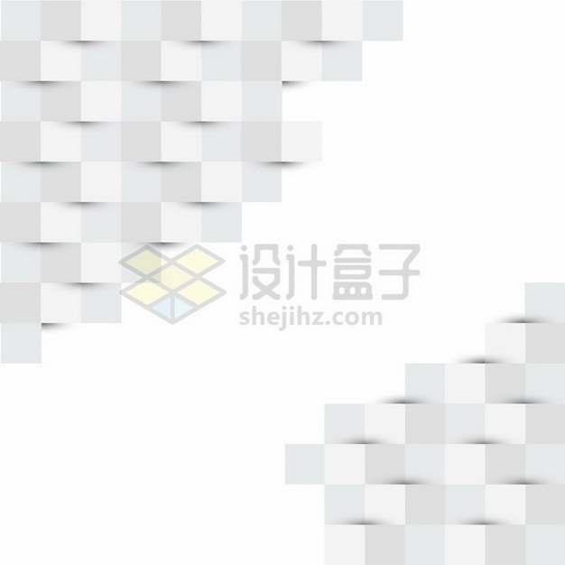 白色折叠方块装饰469411png图片素材