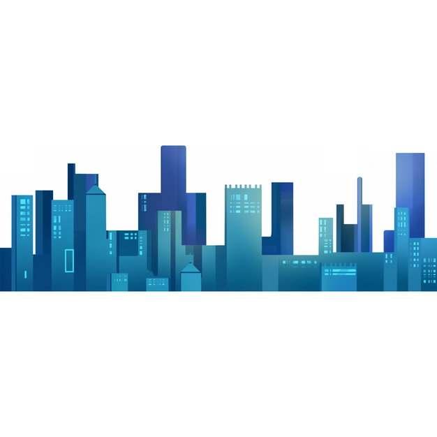 蓝色城市天际线高楼大厦865333png图片素材