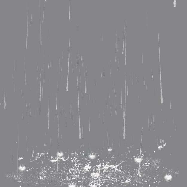 雨水下雨水花效果964795png图片素材