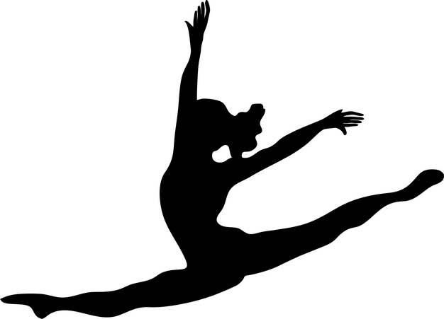 柔美艺术体操美女人体剪影png图片素材127258