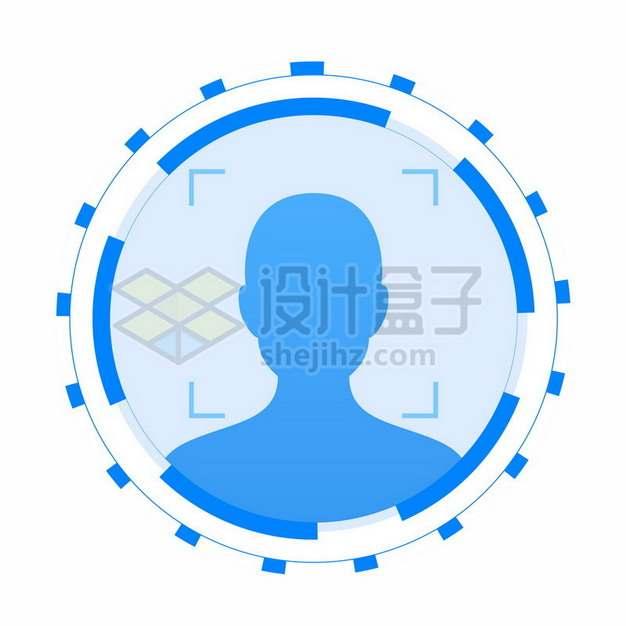 科幻风格人脸识别标志符号412935png图片素材