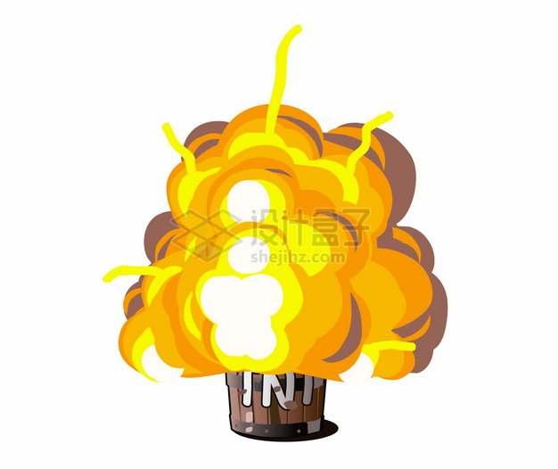 漫画风格TNT炸药爆炸效果png图片素材