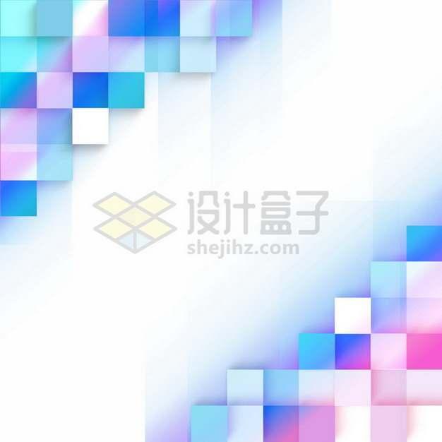 彩色方格方块边框装饰986076png图片素材