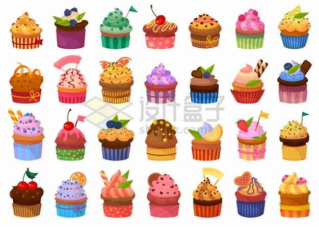 28款蛋糕杯美味蛋糕西餐点心png图片素材