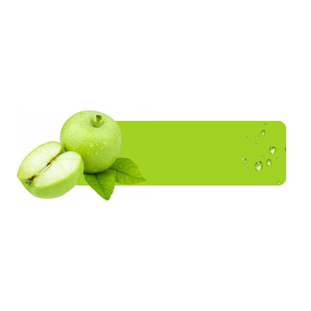 青苹果水果方框标题框文本框115500png图片素材