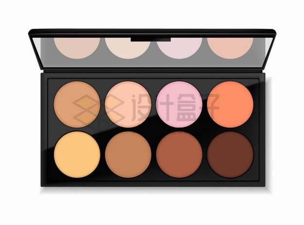 逼真的8色眼影盘化妆品美妆品png图片素材