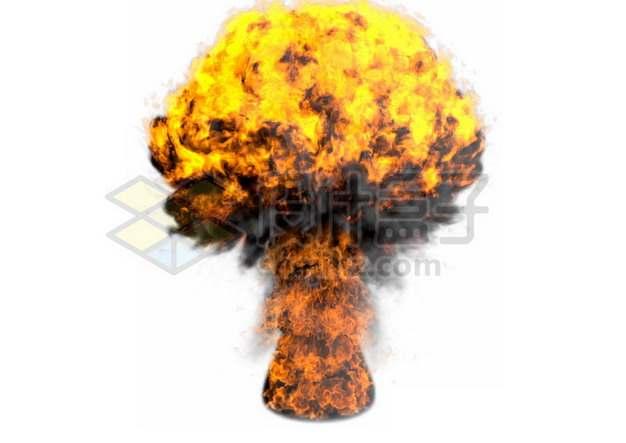 爆炸产生的火光和蘑菇云832675psd/png图片素材