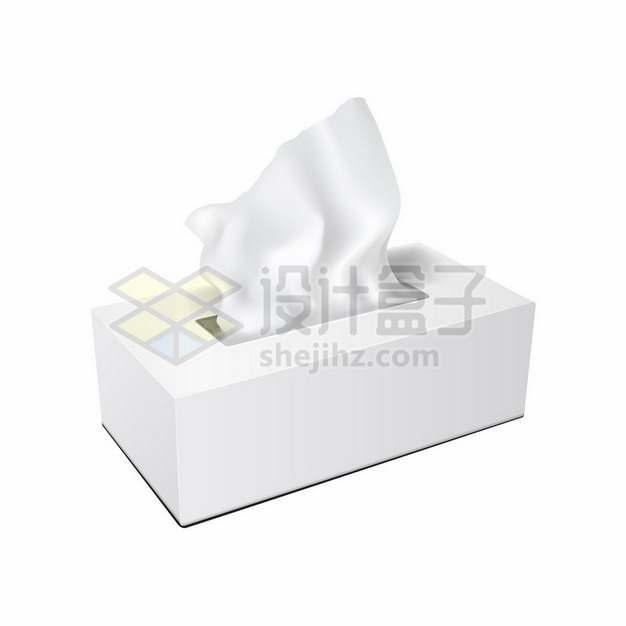 白色包装的抽纸盒545101png矢量图片素材