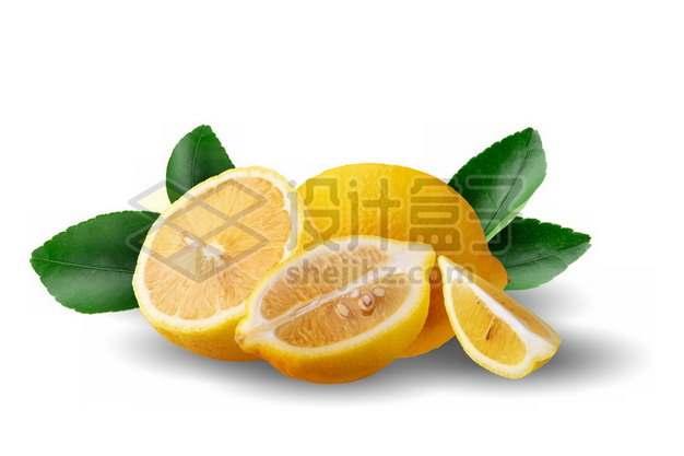 切开的黄柠檬285773psd/png图片素材