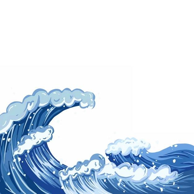 海浪波浪传统插画577464png图片素材 生物自然-第1张