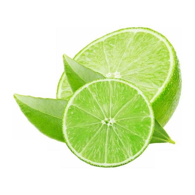 2块切开的青柠檬美味水果712544png图片素材
