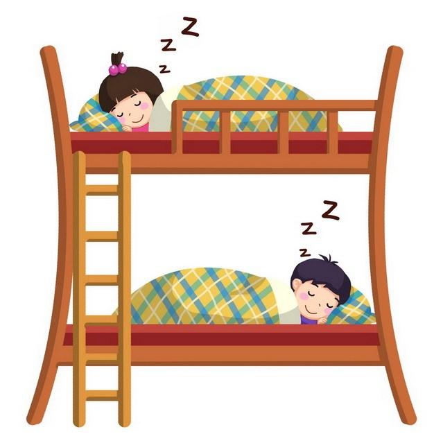 卡通上下铺睡觉963620png图片素材 休闲娱乐-第1张
