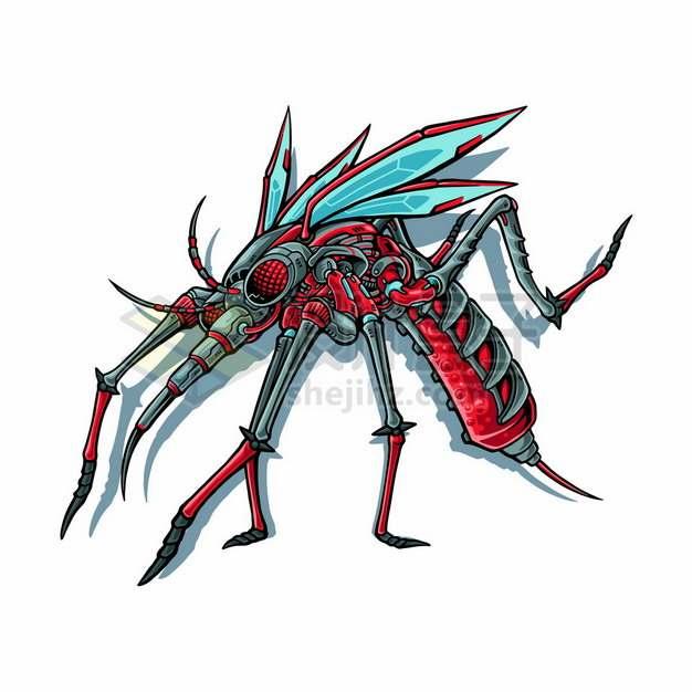 吸血的卡通机械蚊子825780png矢量图片素材