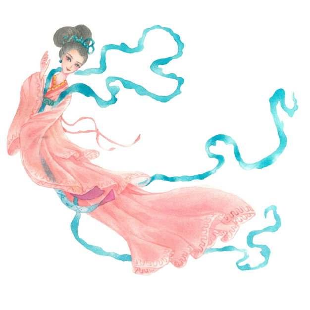 美丽的嫦娥织女中国传统仙女插画482216png图片素材