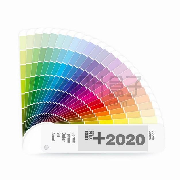 展开的扇形调色板色卡平面设计师专用png图片素材 IT科技-第1张