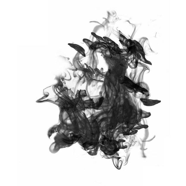 黑色的墨汁烟雾效果105313png图片素材 效果元素-第1张