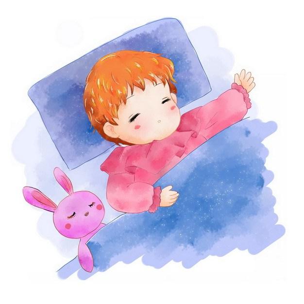 卡通男孩正在睡觉晚安最美624620png图片素材 休闲娱乐-第1张