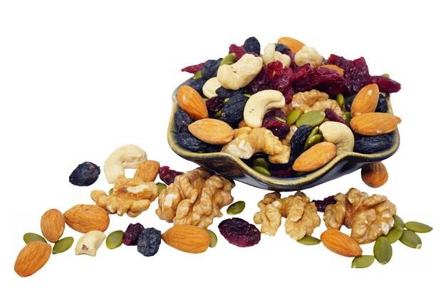 核桃仁杏仁腰果葡萄干等干果美味零食358372png图片素材 生活素材-第1张
