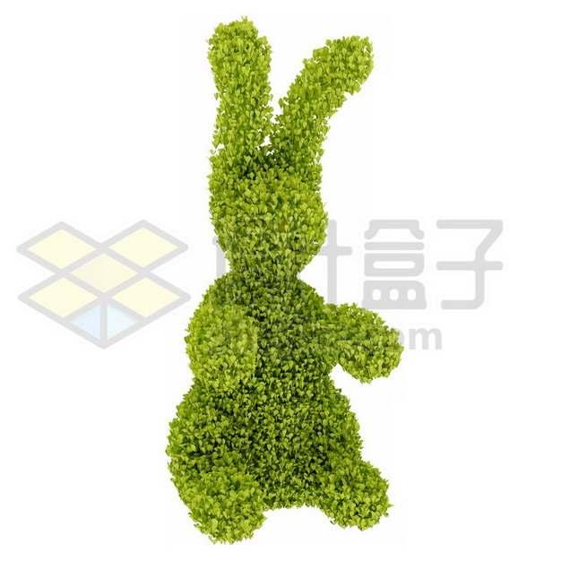 小兔子造型修剪绿植783181psd/png图片素材