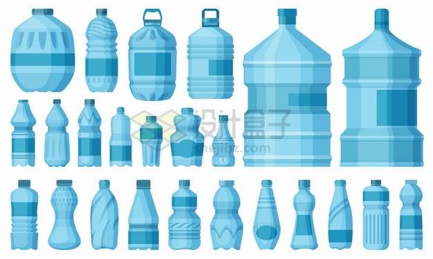 各种蓝色的纯净水桶塑料水瓶png图片素材 生活素材-第1张