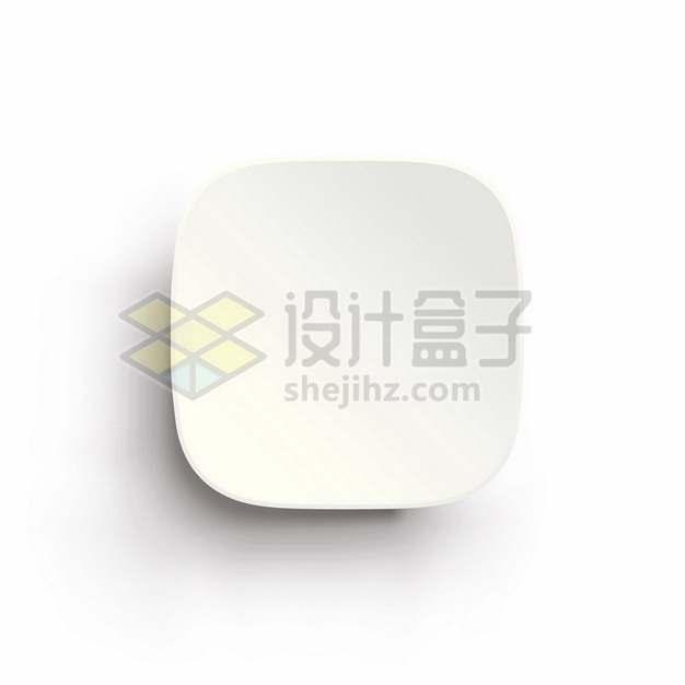 3D立体白色圆角方框按钮247163png矢量图片素材