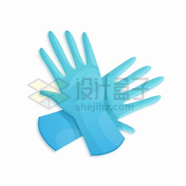 交叉着的两个医用手套png图片素材 健康医疗-第1张