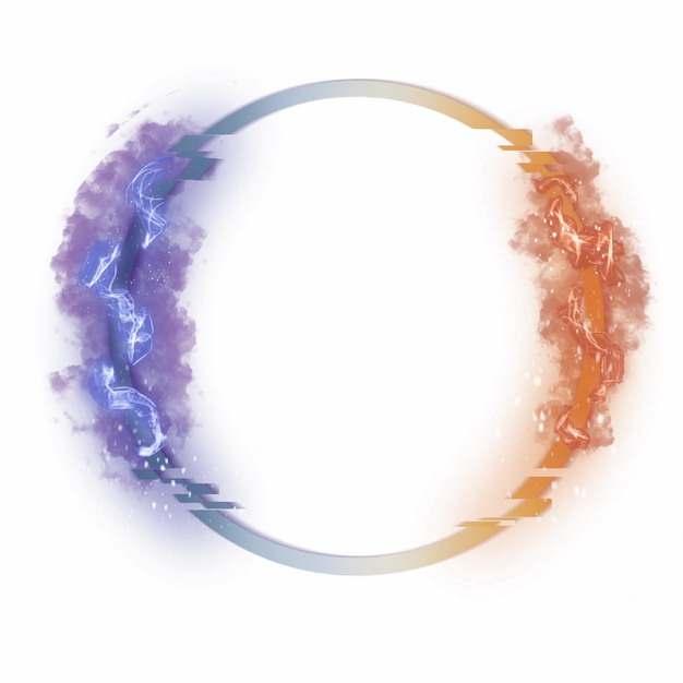 抽象圆环上的彩色烟雾183573png图片素材