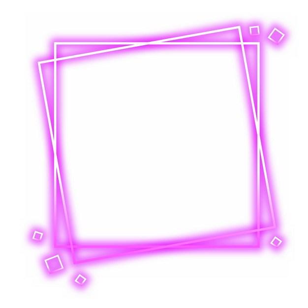 抽象发光紫色方框装饰189846png图片素材 边框纹理-第1张