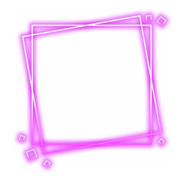 抽象发光紫色方框装饰189846png图片素材
